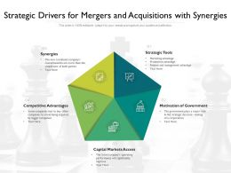 Strategic Drivers For Mergers And Acquisitions With Synergies