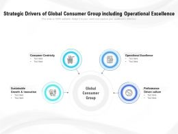 Strategic Drivers Of Global Consumer Group Including Operational Excellence