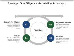 Strategic Due Diligence Acquisition Advisory Divestment Advisory Target Identification