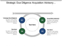 Strategic Due Diligence Acquisition Advisory Divestment Advisory Target Identification
