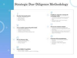 Strategic Due Diligence Methodology Ppt Powerpoint Presentation Model