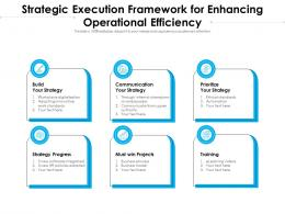 Strategic Execution Framework For Enhancing Operational Efficiency
