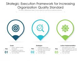 Strategic Execution Framework For Increasing Organization Quality Standard