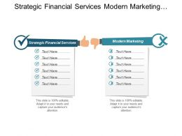 Strategic Financial Services Modern Marketing Business Performance Improvement Cpb