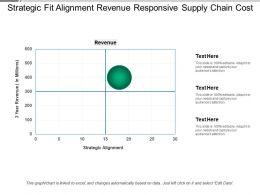 Strategic Fit Alignment Revenue Responsive Supply Chain Cost