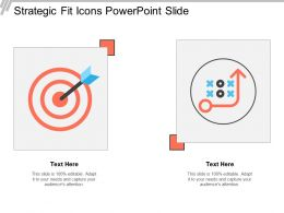 Strategic Fit Icons Powerpoint Slide