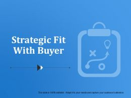 Strategic Fit With Buyer Ppt Icon
