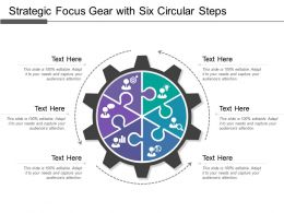 Strategic Focus Gear With Six Circular Steps