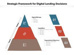 Strategic Framework For Digital Lending Decisions