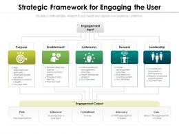 Strategic Framework For Engaging The User