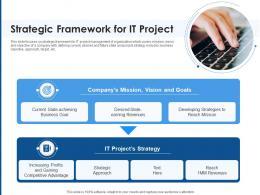 Strategic Framework For IT Project