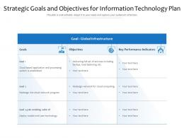 Strategic Goals And Objectives For Information Technology Plan