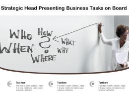 Strategic Head Presenting Business Tasks On Board