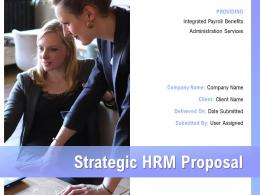 Strategic HRM Proposal Powerpoint Presentation Slides