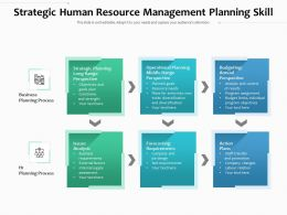 Strategic Human Resource Management Planning Skill