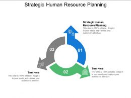 Strategic Human Resource Planning Ppt Powerpoint Presentation Deck Cpb