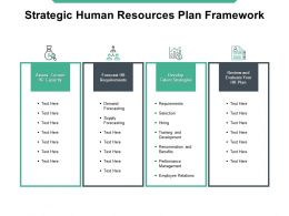 Strategic Human Resources Plan Framework Talent Strategies HR Requirement