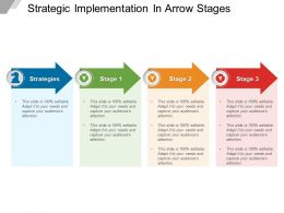 Strategic Implementation In Arrow Stages Powerpoint Images