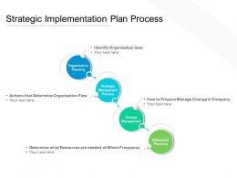 Strategic Implementation Plan Process