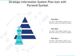 Strategic Information System Plan Icon With Pyramid Symbol