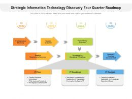 Strategic Information Technology Discovery Four Quarter Roadmap