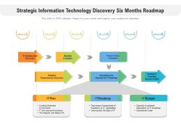 Strategic Information Technology Discovery Six Months Roadmap