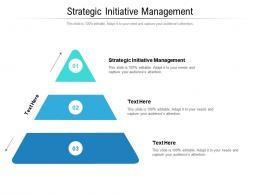 Strategic Initiative Management Ppt Powerpoint Presentation Inspiration Templates Cpb