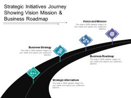 Strategic Initiatives Journey Showing Vision Mission And Business Roadmap