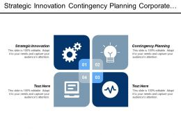 Strategic Innovation Contingency Planning Corporate Strategies Branding Reputation Management Cpb