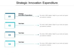 Strategic Innovation Expenditure Ppt Powerpoint Presentation Infographics Display Cpb