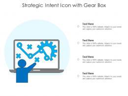 Strategic Intent Icon With Gear Box