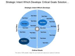Strategic Intent Which Develops Critical Goals Solution Portfolio Management