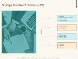 Strategic Investment Decisions Costs Ppt Powerpoint Presentation Guide