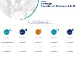 Strategic Investment Decisions Management Ppt Powerpoint Presentation Layouts Vector