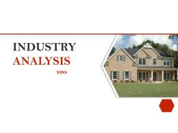 Strategic Investment In Real Estate Industry Analysis Ppt Powerpoint Presentation Brochure