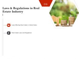 Strategic Investment In Real Estate Laws And Regulations In Real Estate Industry Ppt Slides