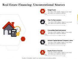 Strategic Investment Real Estate Financing Unconventional Sources Ppt Slides