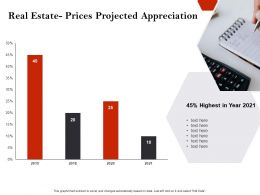 Strategic Investment Real Estate Prices Projected Appreciation Ppt Icons