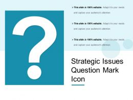 Strategic Issues Question Mark Icon