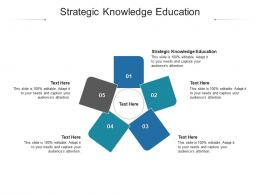 Strategic Knowledge Education Ppt Powerpoint Presentation Infographic Template Objects Cpb