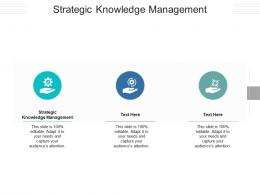 Strategic Knowledge Management Ppt PowerPoint Presentation Icon Background Images Cpb