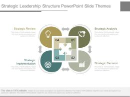 Strategic Leadership Structure Powerpoint Slide Themes