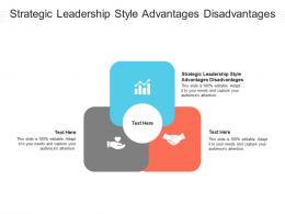 Strategic Leadership Style Advantages Disadvantages Ppt Powerpoint Presentation Ideas Tips Cpb