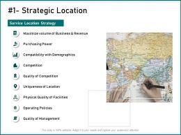 Strategic Location Quality Facilities Ppt Powerpoint Presentation Visual Aids Summary