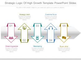 Strategic Logic Of High Growth Template Powerpoint Slides
