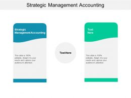 Strategic Management Accounting Ppt Powerpoint Presentation Styles Design Cpb