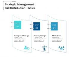 Strategic Management And Distribution Tactics Infographic Template