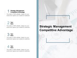 Strategic Management Competitive Advantage Ppt Powerpoint Outline Cpb