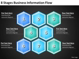 Strategic Management Consulting 8 Stages Business Information Flow Powerpoint Templates