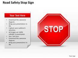 Strategic Management Consulting Safety Stop Sign Powerpoint Templates PPT Backgrounds For Slides 0528